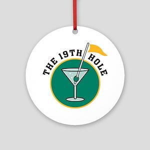 19th Hole Ornament (Round)
