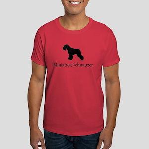 Miniature Schnauzer Silhouett Dark T-Shirt