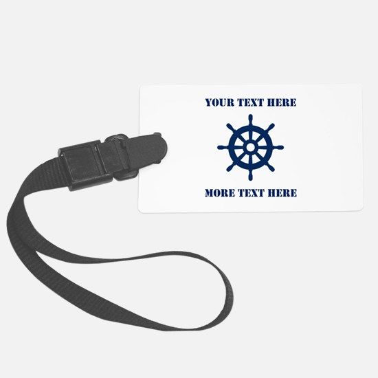 Custom Nautical Ship Wheel For Luggage Tag