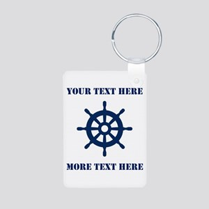 Custom Nautical Boat Wheel Keychains For Sailor