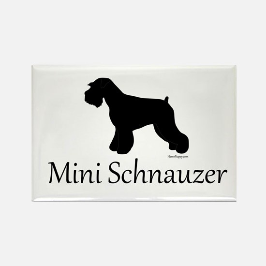Mini Schnauzer Rectangle Magnet