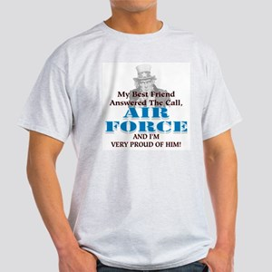 Air Force Hes My Best Friend Ash Grey T-Shirt