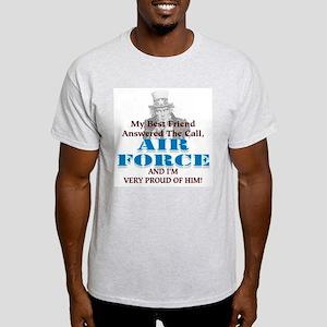 Air Force Hes My Best Friend Ash Grey T-Shirt