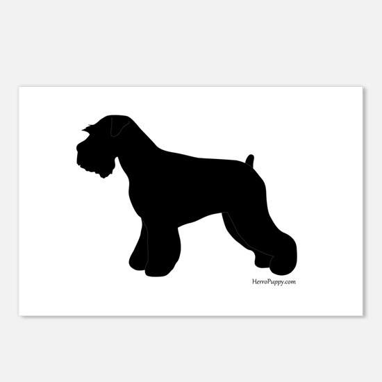 Plain Mini Schnauzer Postcards (Package of 8)