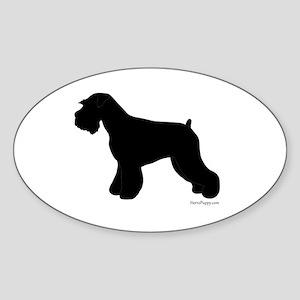 Plain Mini Schnauzer Sticker (Oval)