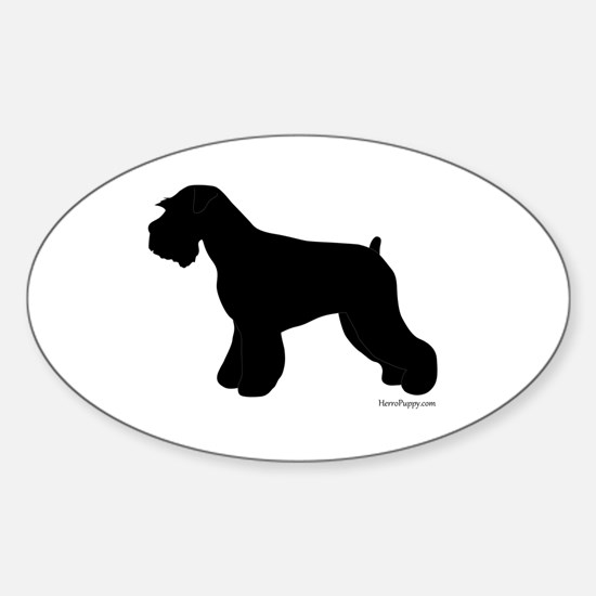 Plain Mini Schnauzer Sticker (Oval)