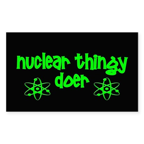 funny nuclear Sticker (Rectangle)
