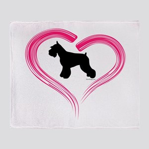 Heart My Schnauzer Throw Blanket