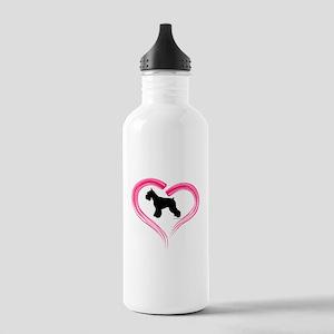 Heart My Schnauzer Stainless Water Bottle 1.0L