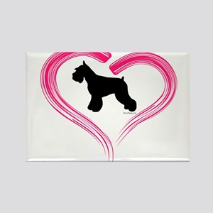 Heart My Schnauzer Rectangle Magnet