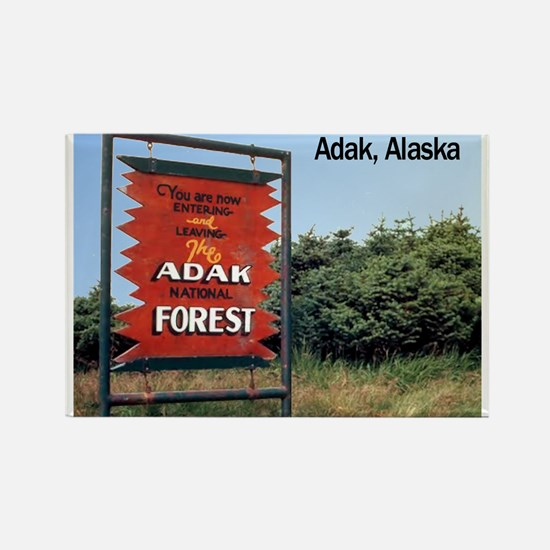 Adak Sign Rectangle Magnet