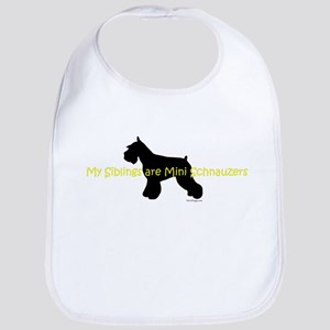 My Siblings are Schnauzers Bib