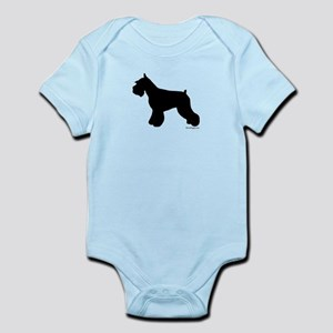 Plain Mini Schnauzer Infant Bodysuit