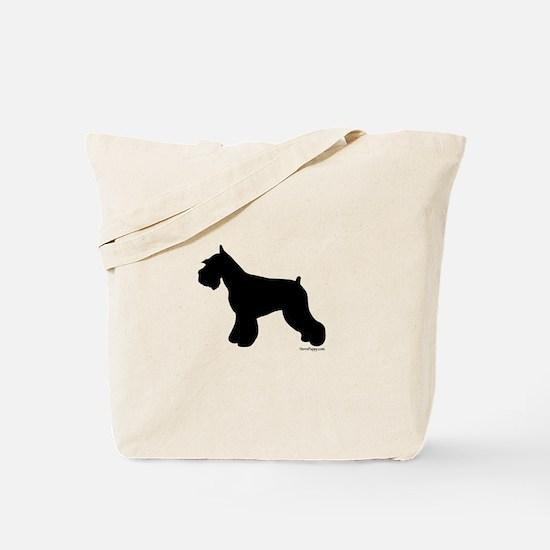 Plain Mini Schnauzer Tote Bag