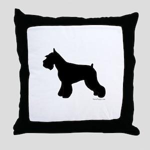Plain Mini Schnauzer Throw Pillow