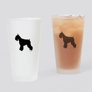 Plain Mini Schnauzer Pint Glass