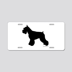 Plain Mini Schnauzer Aluminum License Plate