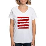 Rebel Stripes Women's V-Neck T-Shirt