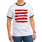 Rebel Stripes Ringer T