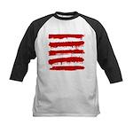 Rebel Stripes Kids Baseball Jersey