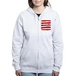 Rebel Stripes Women's Zip Hoodie