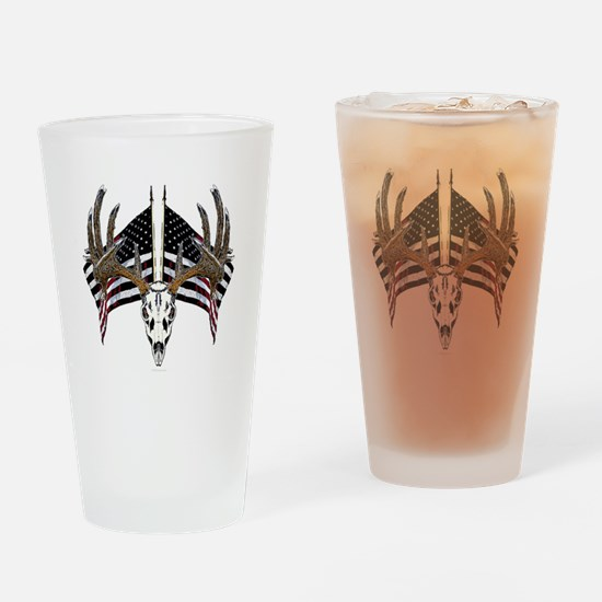 Whitetail skull on American f Pint Glass