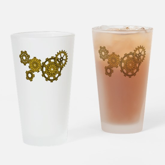 Woven Clockwork Pint Glass