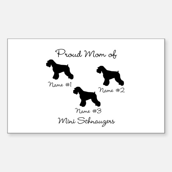 3 Schnauzers Sticker (Rectangle)