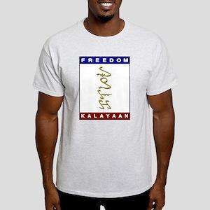 Kalayaan (Freedom) Alibata -  Ash Grey T-Shirt