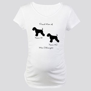 2 Schnauzers Maternity T-Shirt