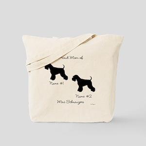 2 Schnauzers Tote Bag