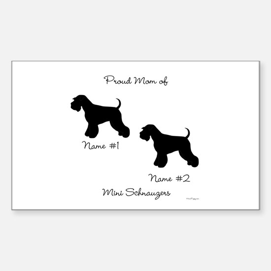 2 Schnauzers Sticker (Rectangle)