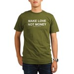 MAKE LOVE, NOT MONEY Organic Men's T-Shirt (dark)