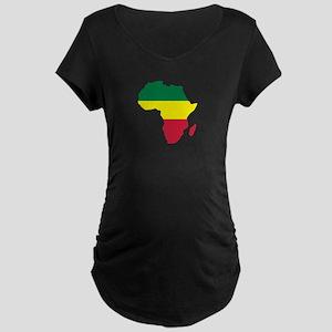 Africa Reggae Maternity Dark T-Shirt