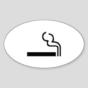 Smoking Image Sticker (Oval)