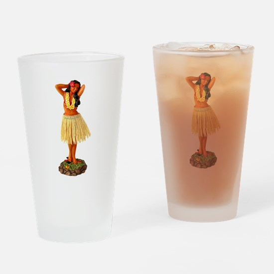 Hula Girl Pint Glass