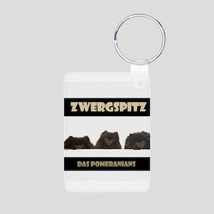 Black Pomeranian German Zwergspitz Deutsch Aluminu