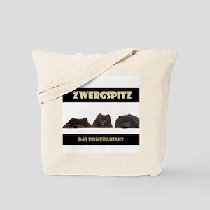 Black Pomeranian German Zwergspitz Deutsch Tote Ba