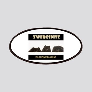 Black Pomeranian German Zwergspitz Deutsch Patches