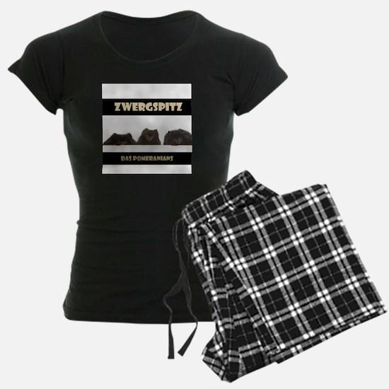 Black Pomeranian German Zwergspitz Deutsch Pajamas