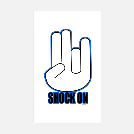 Shock on - Blue Sticker (Rectangle)
