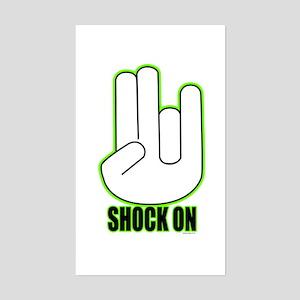 Shock on - Green Sticker (Rectangle)
