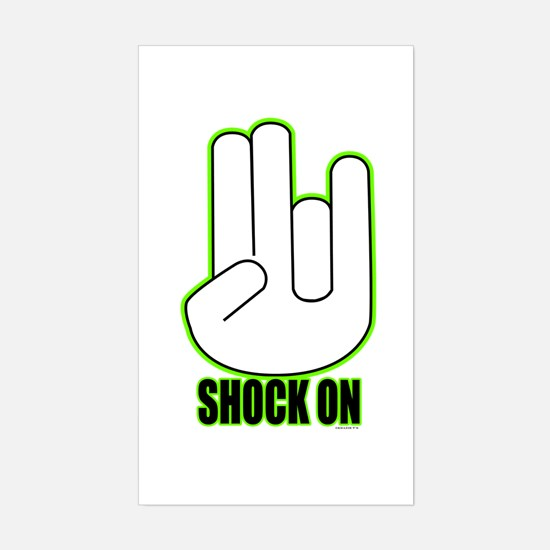 Shock on - Green Sticker (Rectangle)