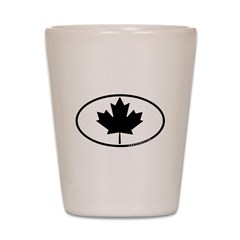 Black Maple Leaf Shot Glass