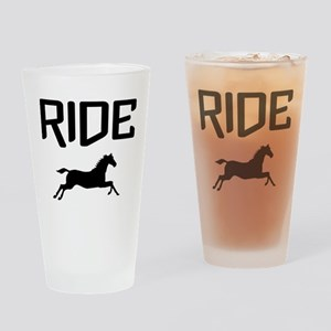 Ride...Horse Drinking Glass