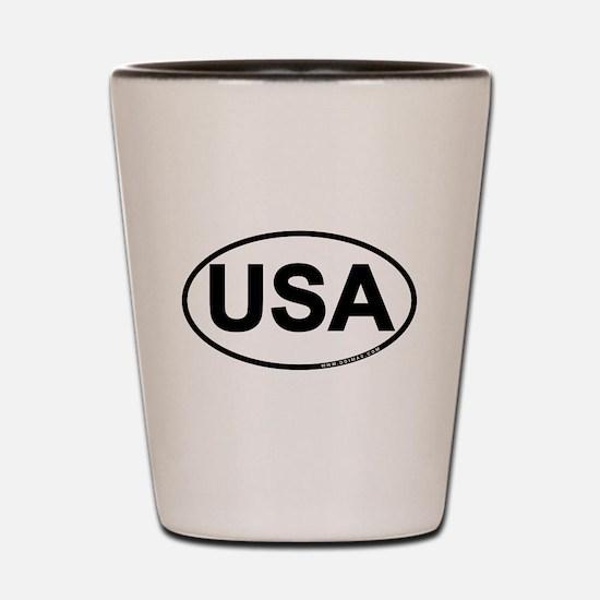 USA oval Shot Glass