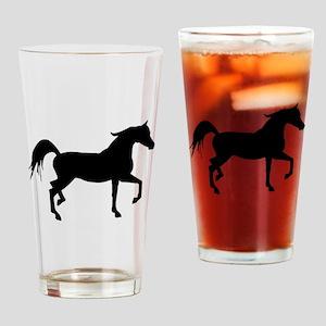 Arabian Horse Silhouette Drinking Glass