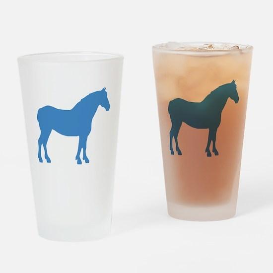 Blue Draft Horse Pint Glass