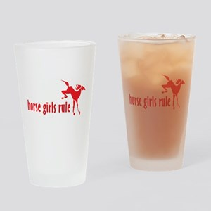 horse girls rule Pint Glass