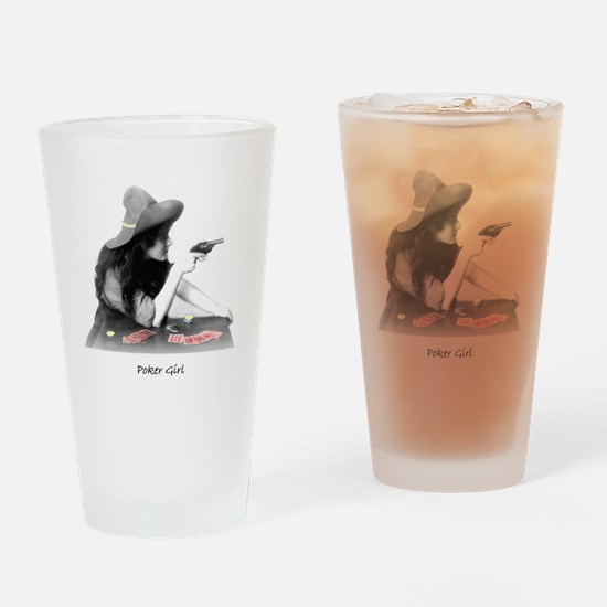 poker girl Pint Glass